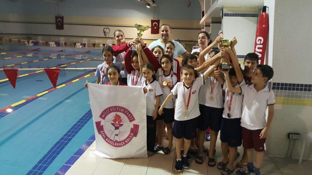 İlkokul Yüzme Takımlarımızın Başarısını Alkışladık
