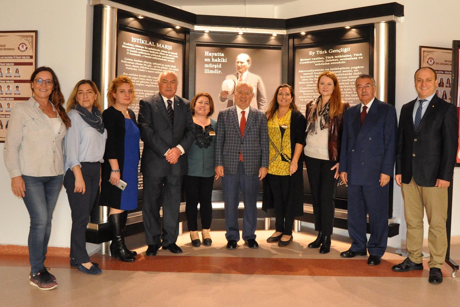 MEV Denetim Kurulu Yeni Eğitim Öğretim Yılında Okul Aile Birliğine Başarılar Diledi