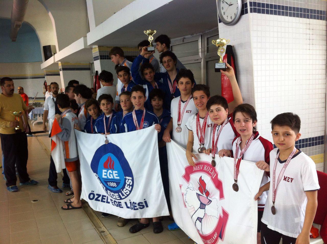 Yıldız Kız ve Erkek Yüzme Takımlarımız Bayrak Yarışlarında İl Üçüncüsü ve İl Dördüncüsü Oldu