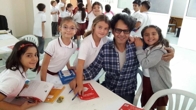 3. Sınıflarımız Karikatürist Turgut Yüksel'i Ağırladı