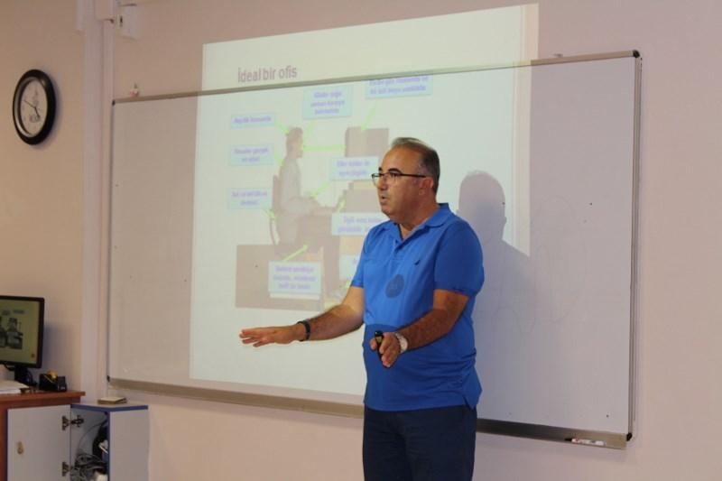 Aramıza Yeni Katılan Öğretmenlerimize İş Yeri Güvenliği ve Sağlığı Eğitimi