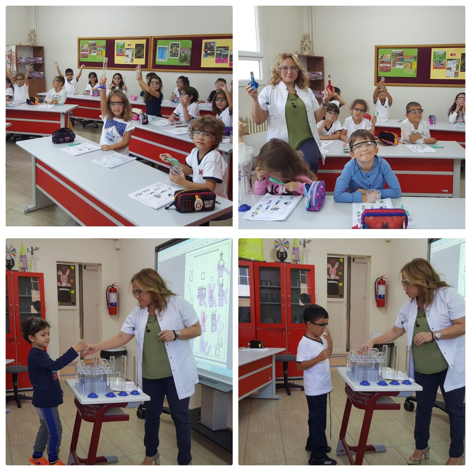 Okul Öncesi Sınıflarımız Laboratuvar Dersi ile Tanıştı