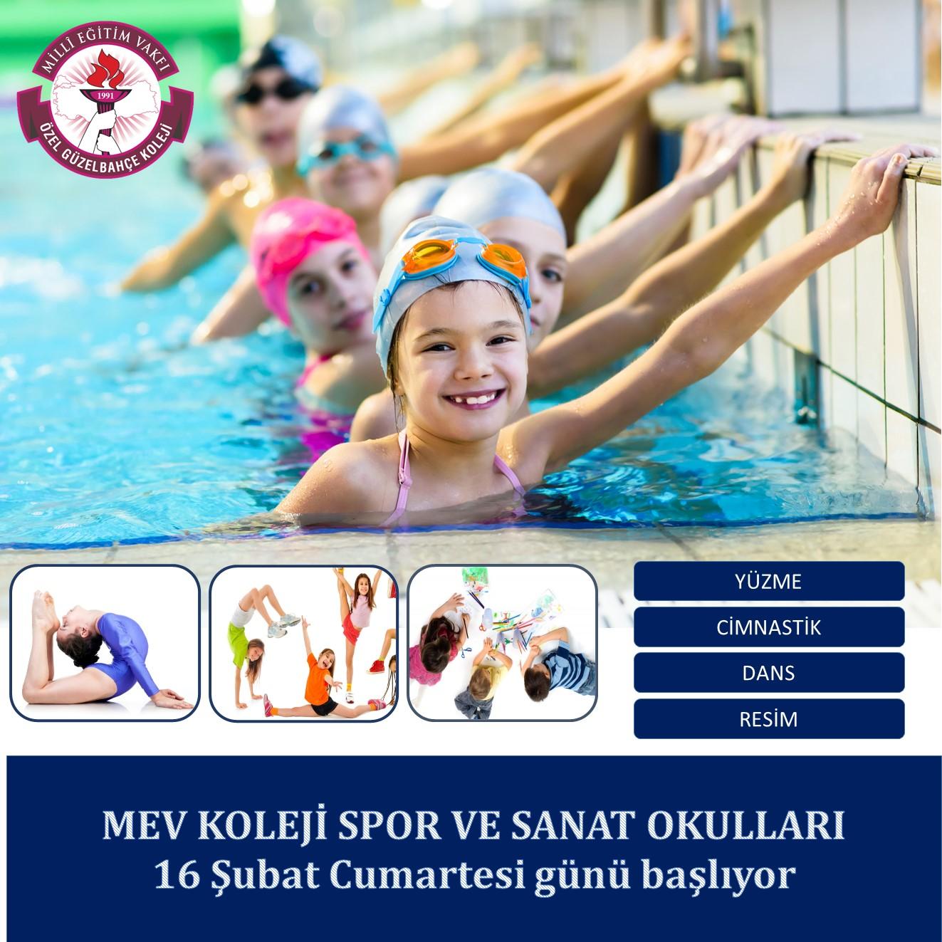 2. Dönem MEV Spor ve Sanat Okulları Başlıyor