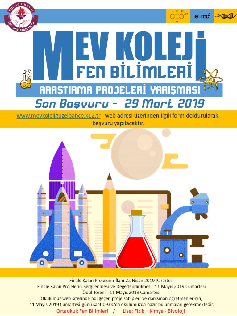 MEV Koleji Fen Bilimleri Araştırma Proje Yarışması Başvuruları Başladı