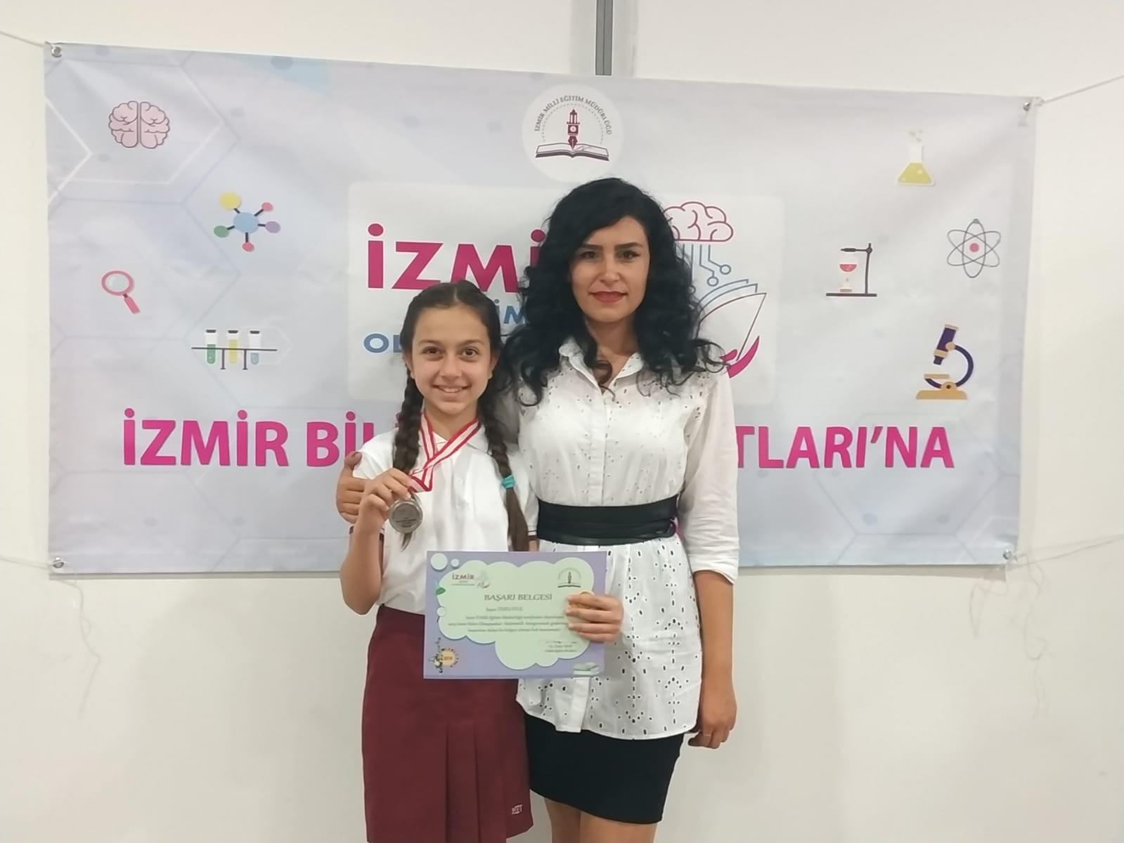 Duru Kılıç, İzmir Bilim Olimpiyatları Matematik Dalında İzmir İkincisi