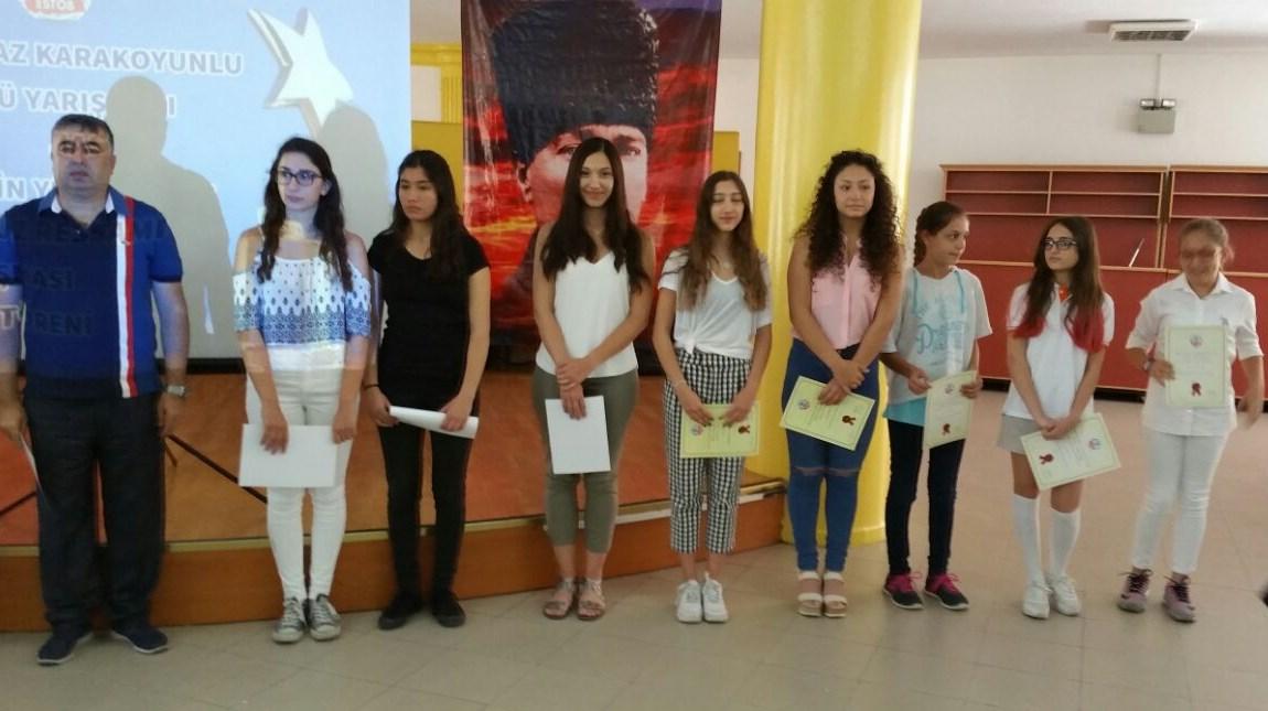 Yılmaz Karakoyunlu Öykü Yarışmasından Hem Okulumuza Hem Öğrencilerimize Ödül