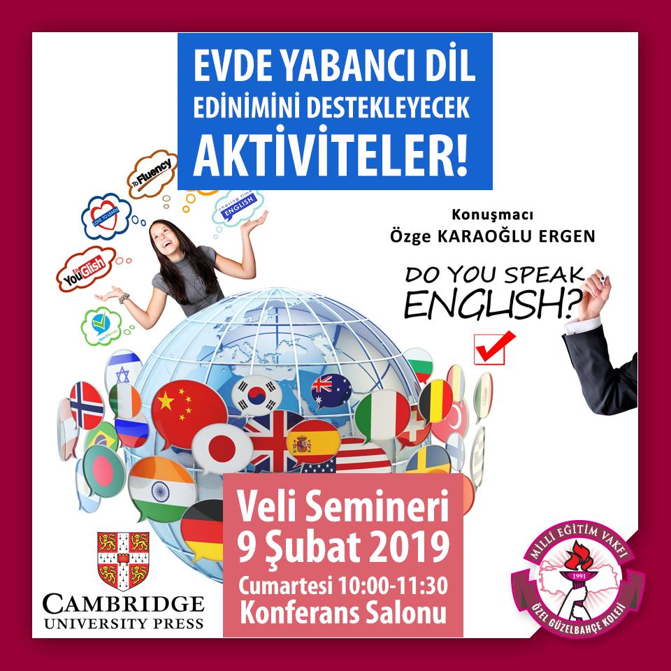 Evde Yabancı Dil Edinimini Destekleyecek Etkinlikler