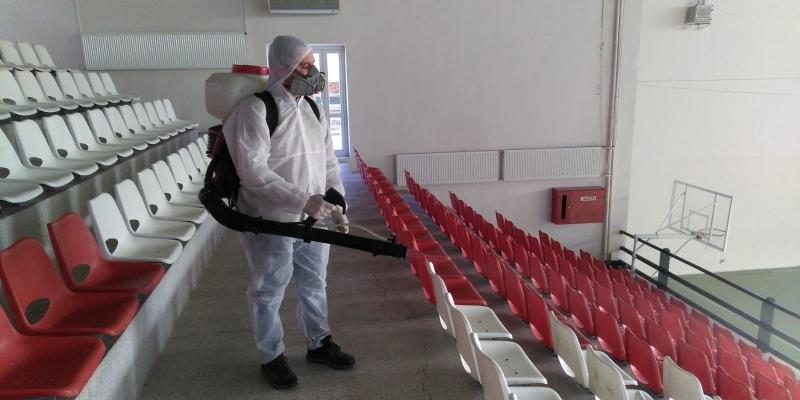 Okulumuzda Korona Virüse Karşı Dezenfekte Çalışması Yapıldı