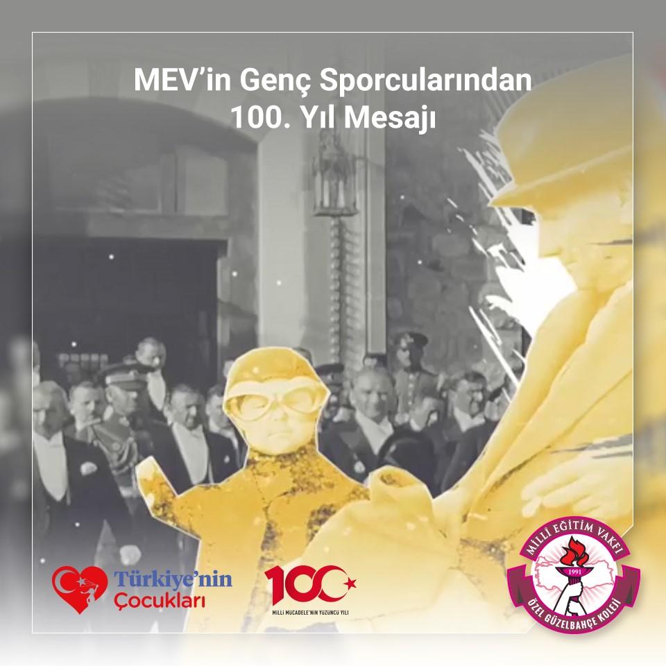 MEV'in Genç Sporcularından 100. Yıl Mesajı