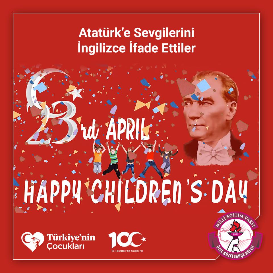 Atatürk'e Sevgilerini İngilizce İfade Ettiler