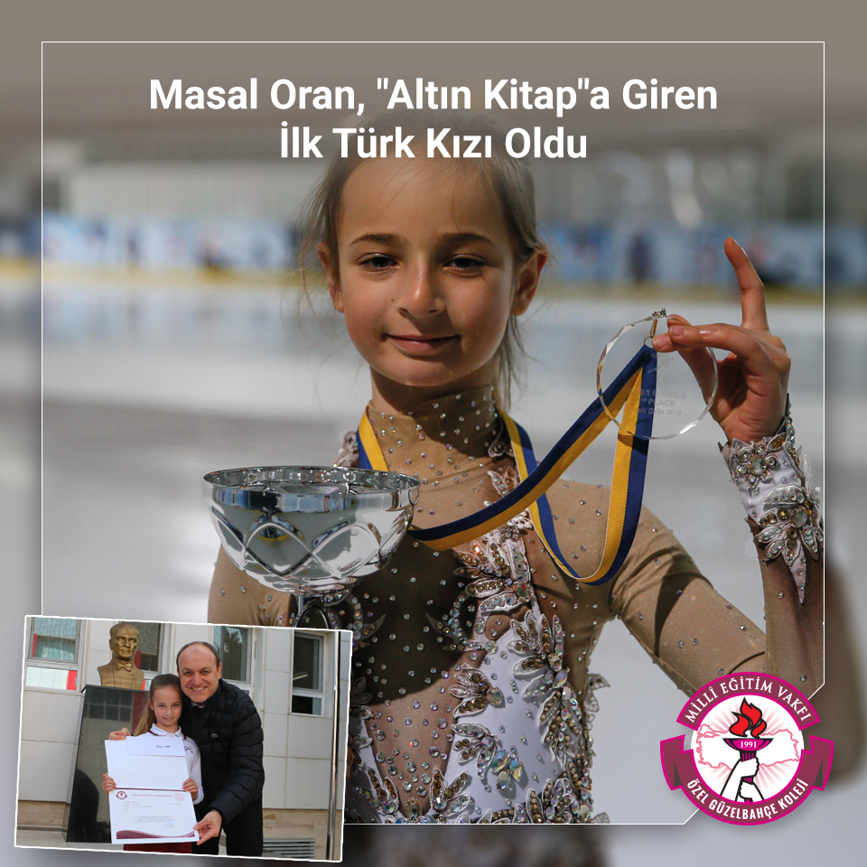 """Masal Oran, """"Altın Kitap""""a Giren İlk Türk Kızı Oldu"""