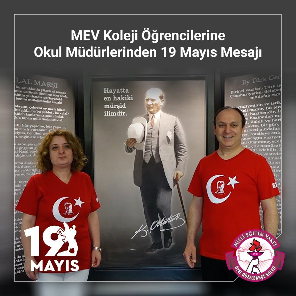 MEV Koleji Öğrencilerine Okul Müdürlerinden 19 Mayıs Mesajı
