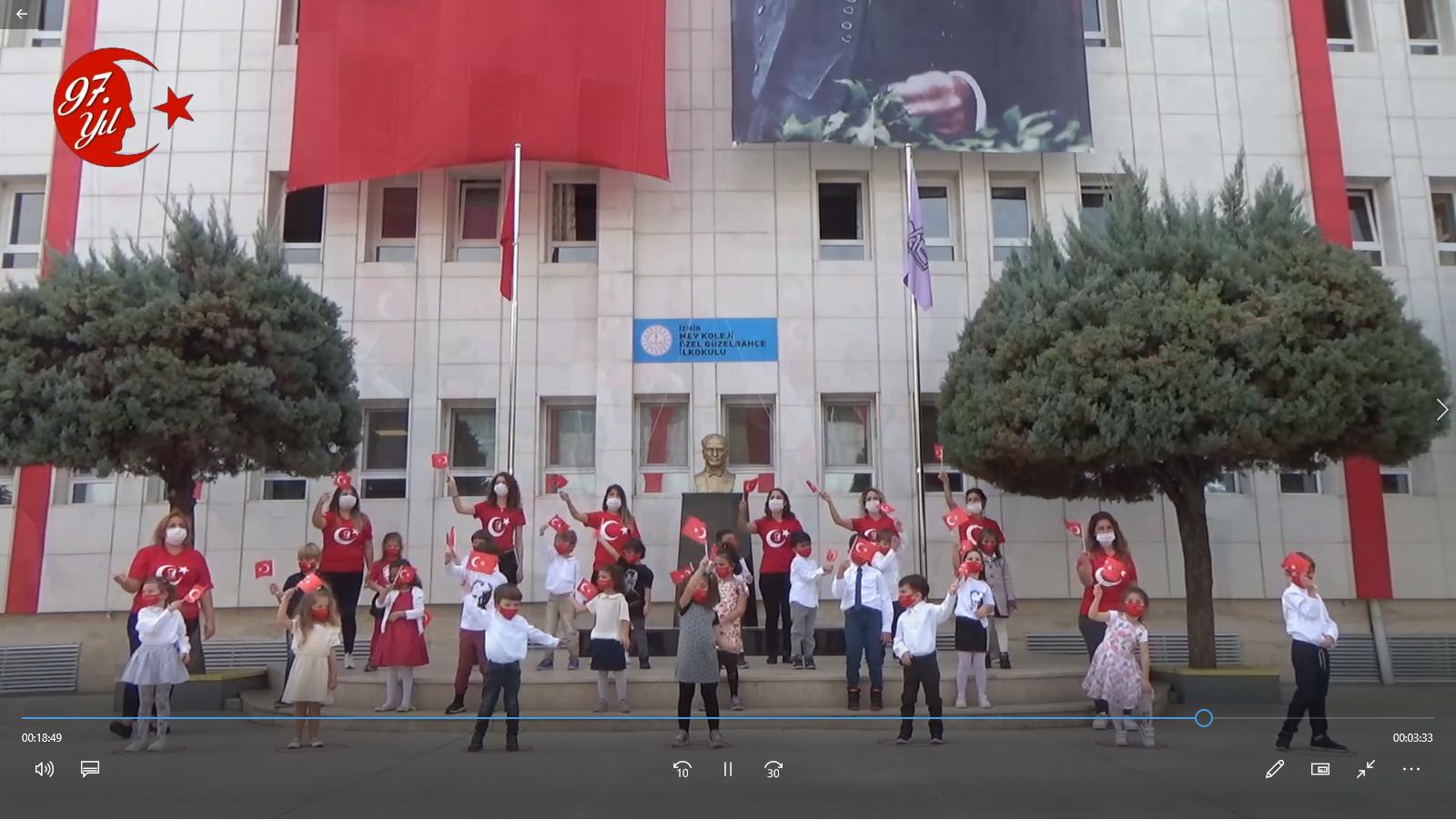 MEV Koleji Özel Güzelbahçe İlkokulu Cumhuriyet Bayramı Kutlama Programı