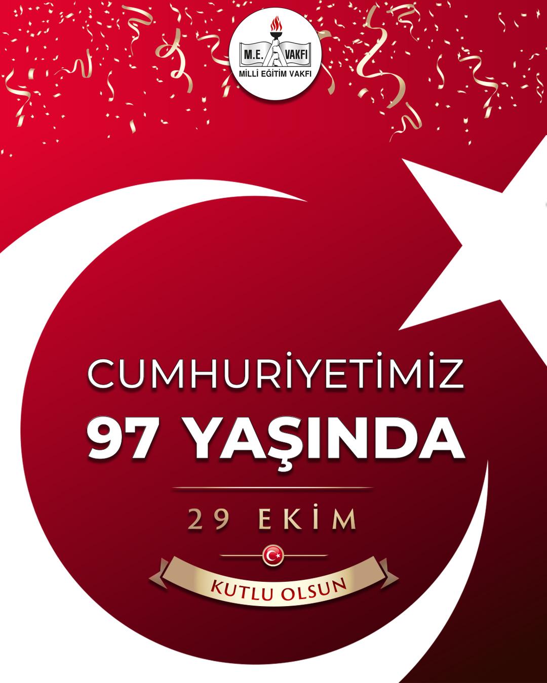 Milli Eğitim Vakfı Yönetim Kurulu Başkanı Prof. Dr. Mustafa Safran'ın 29 Ekim Cumhuriyet Bayramı Kutlama Mesajı