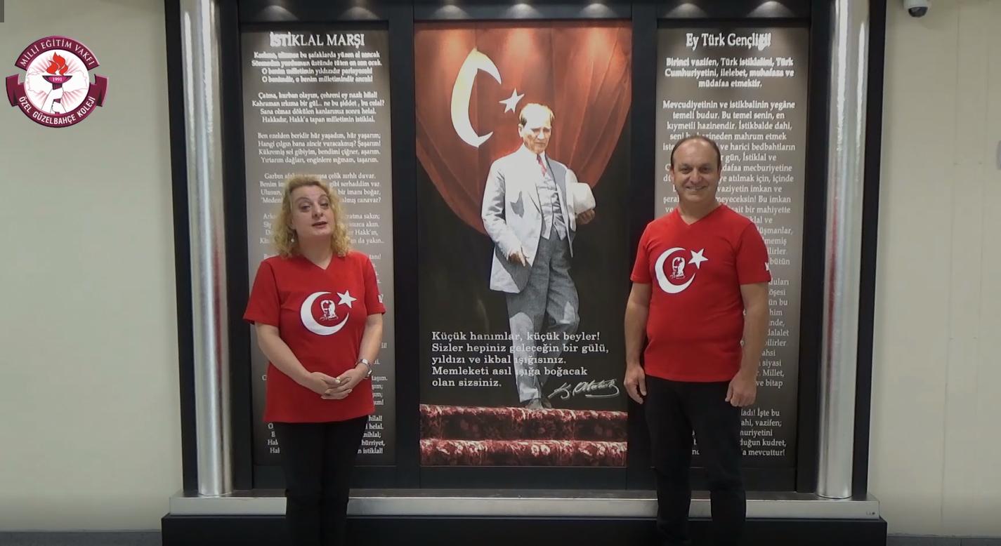 MEV Koleji Özel Güzelbahçe Anadolu – Fen Lisemiz ile Ortaokul Cumhuriyet Bayramı Kutlama Programı