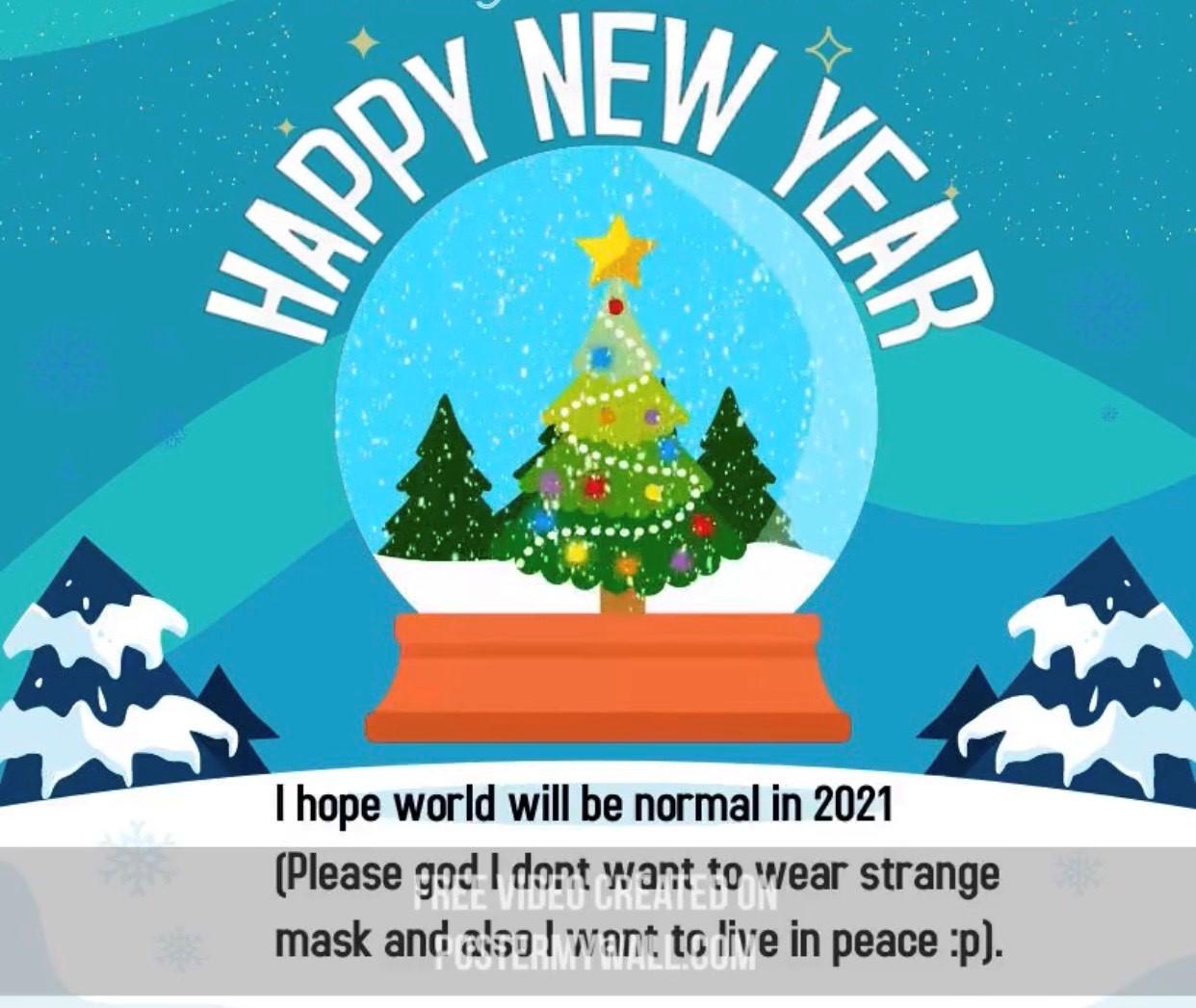Öğrencilerimiz 2021'den Beklentilerini Yeni Yıl Kartlarına Döktüler