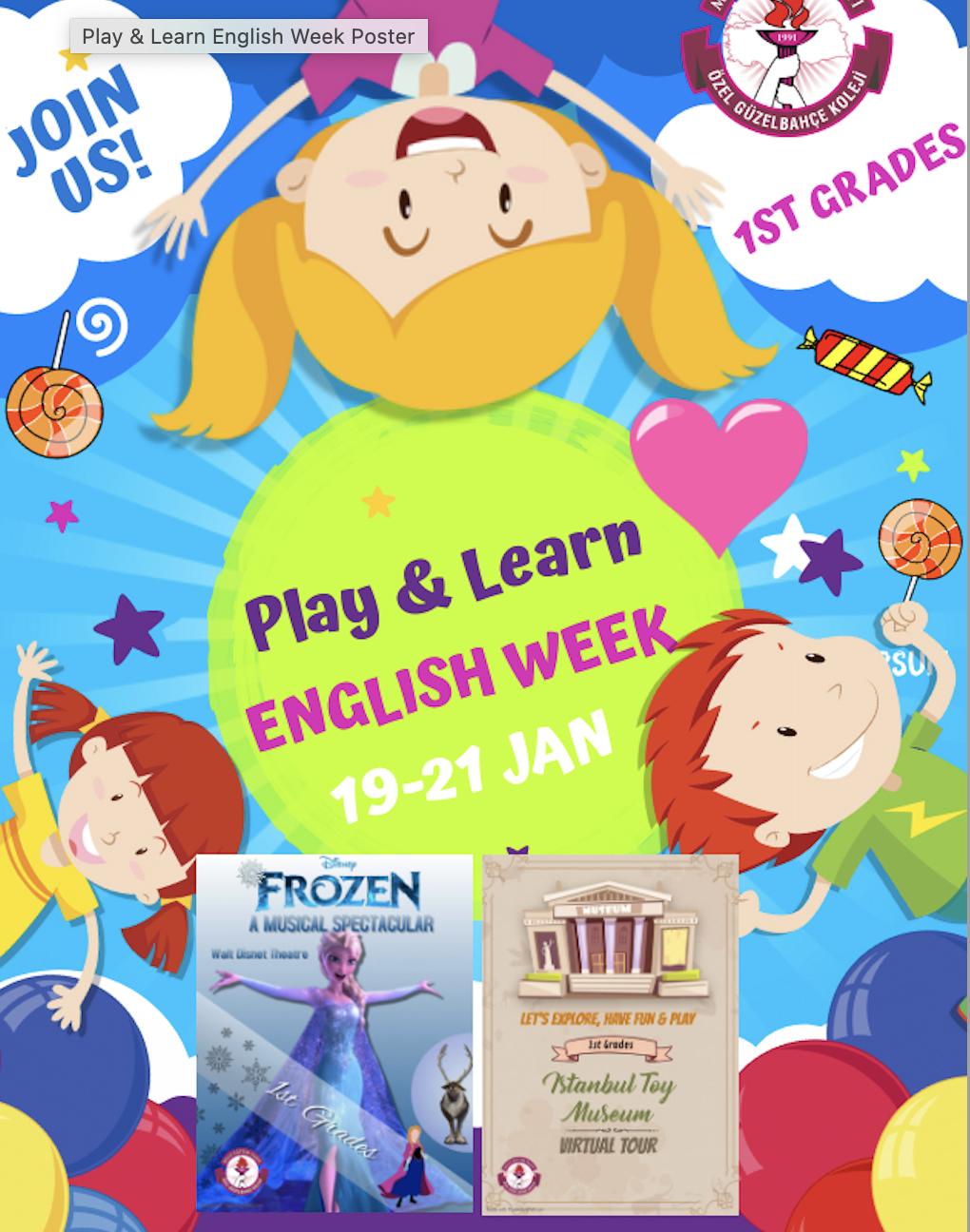 """Play & Learn English Week"""