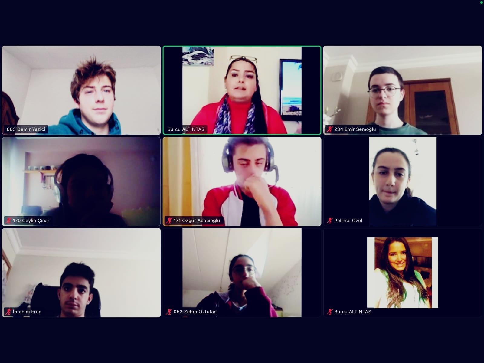 MUN Kulübü Öğrencilerimiz Çevrim İçi Toplandı