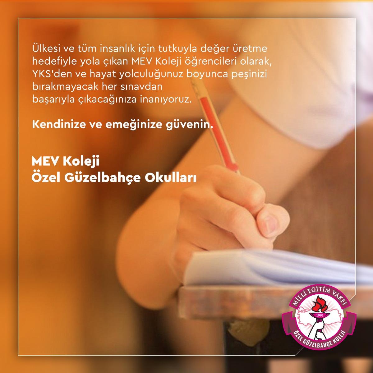 12. Sınıf Öğrencilerimize YKS'de Başarılar Diliyoruz.