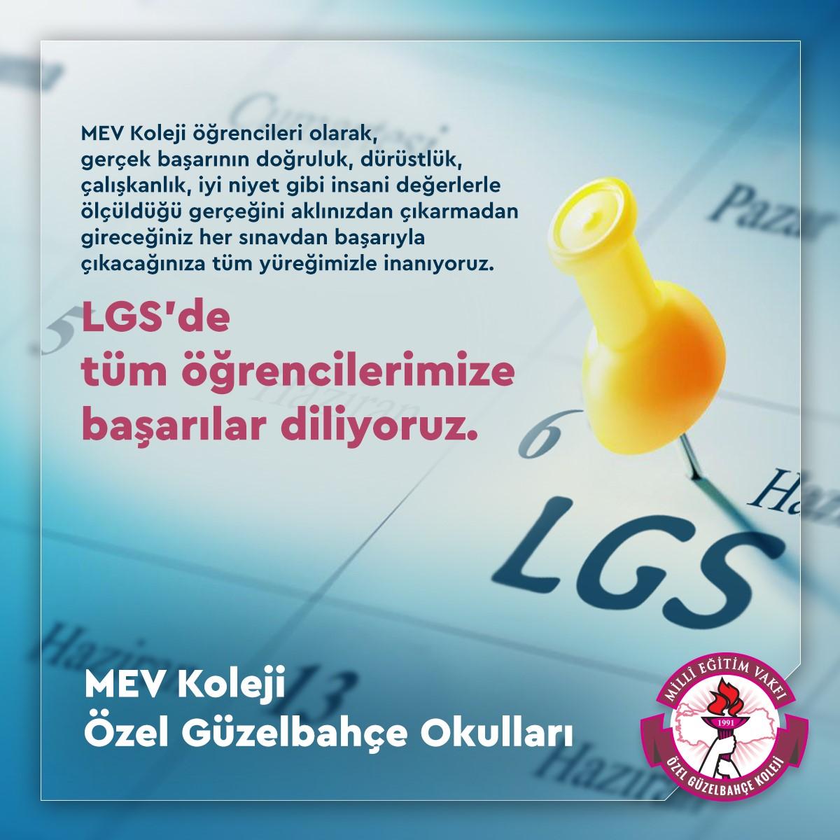 LGS'de Tüm Öğrencilerimize Başarılar Diliyoruz